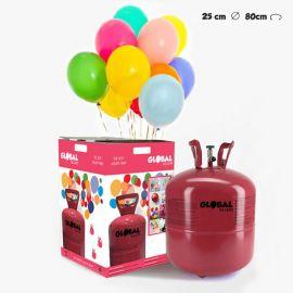 Garrafa de Hélio Grande com 50 Balões
