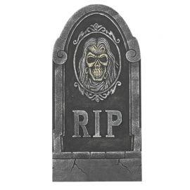 Lapida RIP com Calavera 33 X 65 cm