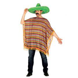 Fato de Mexicano com poncho Colorido