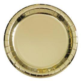 8 Pratos Metalizados 23 cm