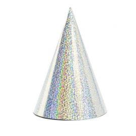 6 Chapéus de Papel Metalizados com Purpurina