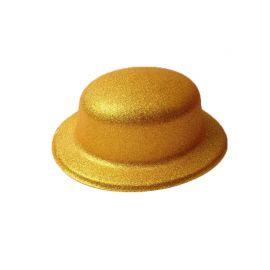 Chapéu Metalizado com Purpurina Redondo