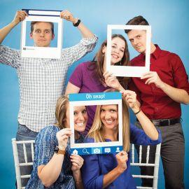 3 Quadros Redes Sociales para Photo Booth