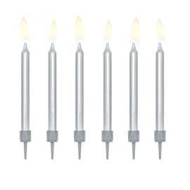 6 Velas para Aniversário Metalizadas