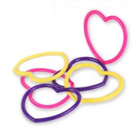 6 Brinquedos Pulseiras Coração