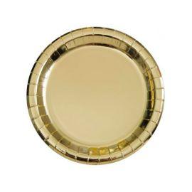 8 Pratos Metalizados 18 cm