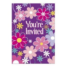 8 Convites con Flores