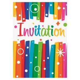 8 Convites Coloridos