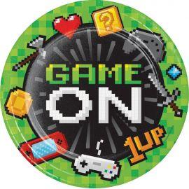 8 Pratos Video Games 23 cm