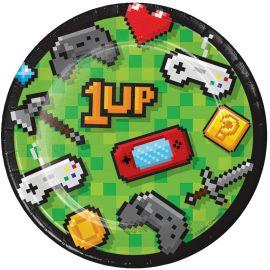 8 Pratos Video Games 18 cm