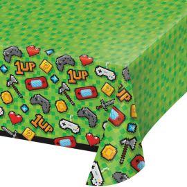 Toalha de Mesa Video Games de Plástico 137 cm x 259 cm