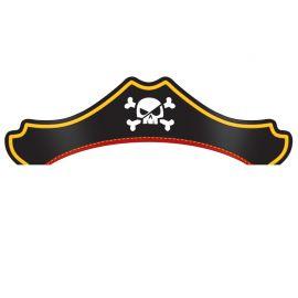 8 Chapéus Tesouro Pirata