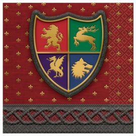 16 Guardanapos Medieval 33 cm