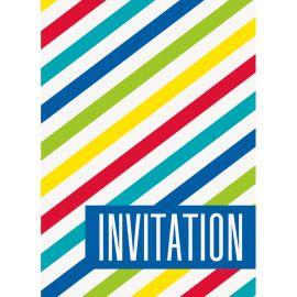 8 Invitaciones con Rayas