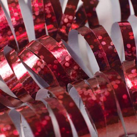 18 Serpentinas Papel Holografico
