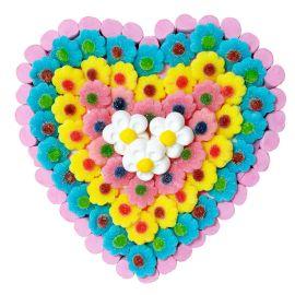 Bolo de Gomas Coração de Flores
