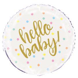 Balão Hello Baby Foil 46 cm