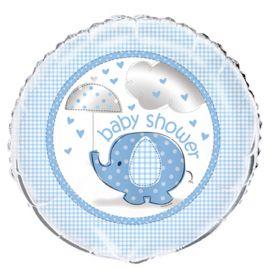 Balão Baby Shower Elefante Menino Foil 46 cm