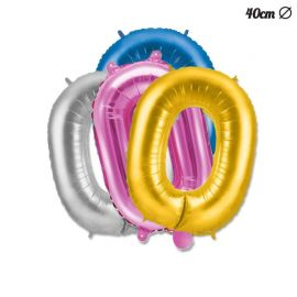 Balão Número 0 Foil 40 cm