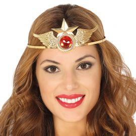 Bandolete Dourada de Metal para Super Heroina