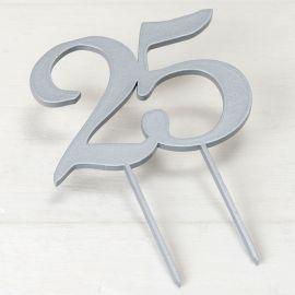 Topper para Bolo 25 Aniversário