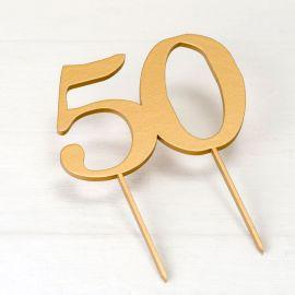 Topper para Bolo 50 Aniversário