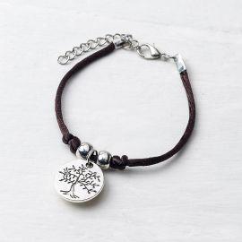 4 Pulseiras com Medalha Árvore/Life is a Gift