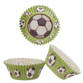 Cápsulas Para Cupcake Futebol 5 cm