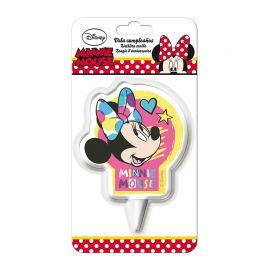 Velas Aniversário Minnie Mouse 7,5 cm 2D