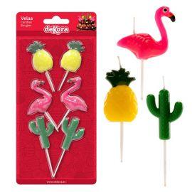 Velas Ananás, Flamingo y Cacto