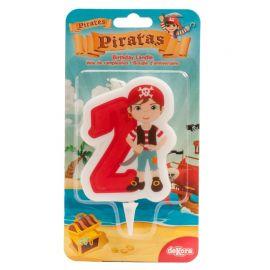 Velas de Piratas Nº2 de 7 cm 2D