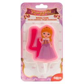 12 Velas de Princesas Nº4 de 7 cm 2D