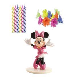 Pack Velas Minnie Mouse Para Bolo
