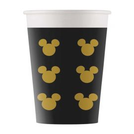 8 Copos Mickey Gold 160 ml
