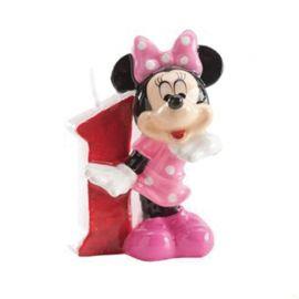 Velas Nº 1 Minnie Mouse 6,5 cm