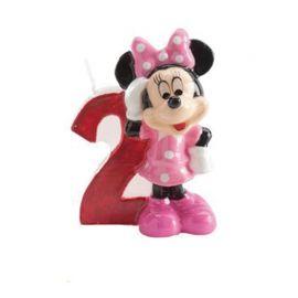 Velas Nº 2 Minnie Mouse 6,5 cm