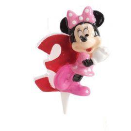 Velas Nº 3 Minnie Mouse 6,5 cm