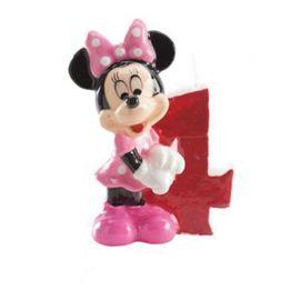8 Velas Nº 4 Minnie Mouse 6,5 cm