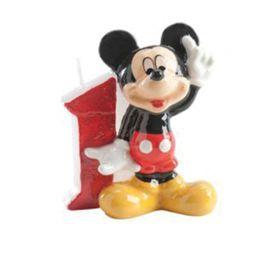 Velas Nº 1 Mickey Mouse 6,5 cm