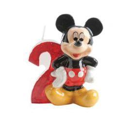 Velas Nº 2 Mickey Mouse 6,5 cm