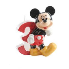 Velas Nº 3 Mickey Mouse 6,5 cm