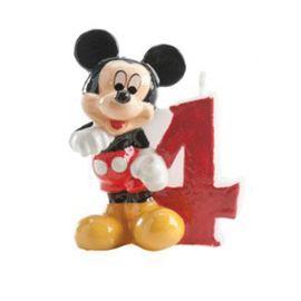 Velas Nº 4 Mickey Mouse 6,5 cm