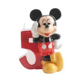 Velas Nº 5 Mickey Mouse 6,5 cm