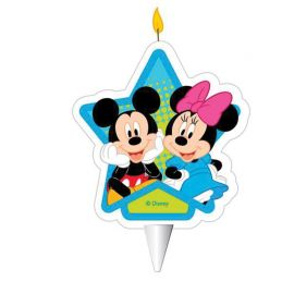 Velas Mickey Mouse & Minnie Mouse 2D