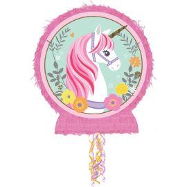 Pinhata Redonda Unicornio Magia