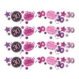 Confeti Elegante Rosa Celebração 30 Anos