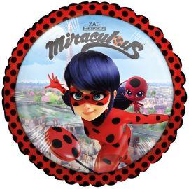 Balão Ladybug de Papel Redondo