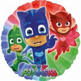 Balão Pj Masks de Foil Redondo
