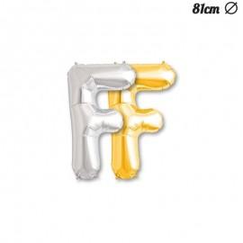 Balão Letra F Foil 81 cm