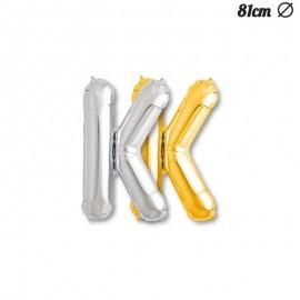 Balão Letra K Foil 81 cm
